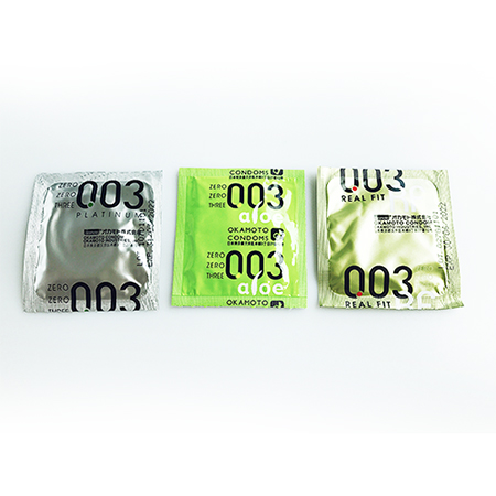 오카모토 003플레티늄 1개,003RF 1개,003(알로에)1개 중 선택 먼저사용해보세요~